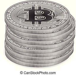 bitcoin, pièces