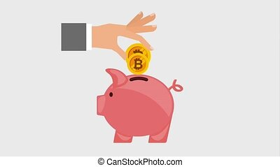 bitcoin piggy money animation
