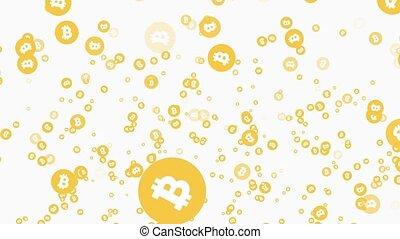 bitcoin rain. animation of falling golden coins. - bitcoin...