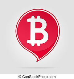 Bitcoin red logo with soft shadow