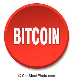 bitcoin red round flat isolated push button
