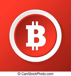 bitcoin, rouges, icône