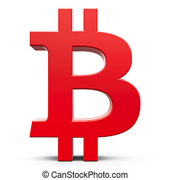 bitcoin, rouges, signe