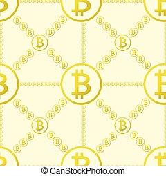 bitcoin, seamless, mönster