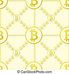 bitcoin, seamless, motívum