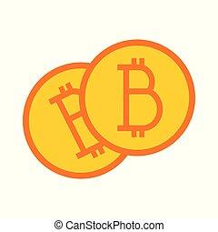 Bitcoin Simple Symbol Vector Illustration Graphic