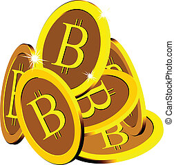 bitcoin stack over white