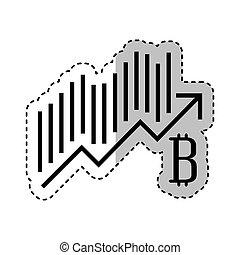 bitcoin statistics graphic icon