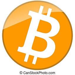 Bitcoin - bitcoin button symbol
