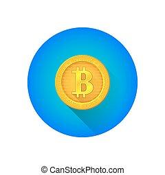 bitcoin symbol gold coin icon