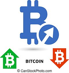 Bitcoin symbol in flat design for internet money. Symbol of the
