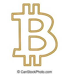 BITCOIN SYMBOL ISOLATED ON WHITE BACKGROUND VECTOR
