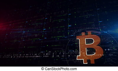 Bitcoin symbol lower thirds background - Bitcoin symbol...