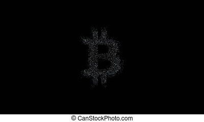 bitcoin symbol, million particulars make bitcoin symbol in space