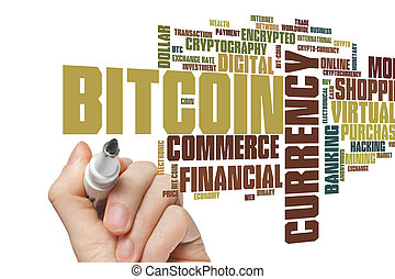bitcoin, szó, felhő