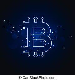 bitcoin technology network digital background
