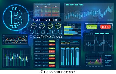 Bitcoin Technology Visualization. Futuristic aesthetic...