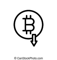 bitcoin thin line icon