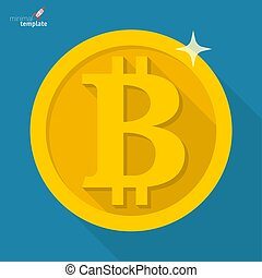Bitcoin vector cryptocurrency icon.