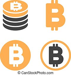Bitcoin Vector Icon Set