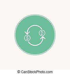bitcoin vector icon sign symbol