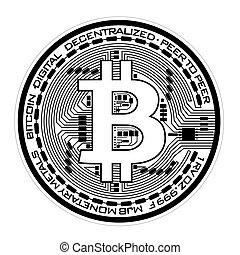 Bitcoin - Vector illustration of physical bitcoin on white ...