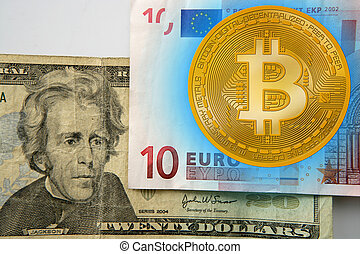 Bitcoin versus dollar and Euor currency