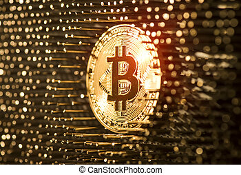 Bitcoin virtual Crypto Currency background concept