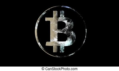 Bitcoin virtual currency concept. High tech technology 16