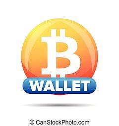 Bitcoin wallet button sign