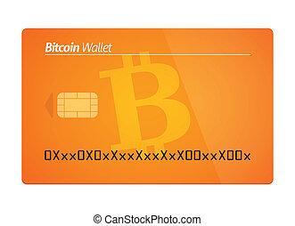 Bitcoin wallet concept - Illustration of a Bitcoin wallet...