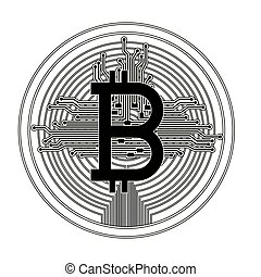 bitcoin with circuit lines commerce technology