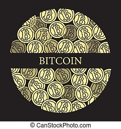 Bitcoins. Digital currency. Blockchain technology.