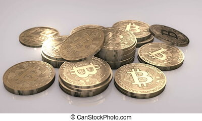 Bitcoins in a Pile