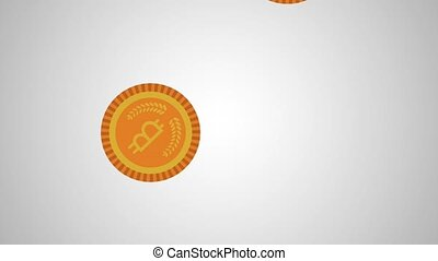 bitcoins rain ecommerce animation