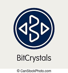 Bitcrystals - Cryptographic Currency Symbol. - Bitcrystals ...