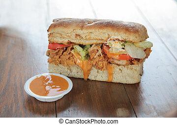 Bite size mini sandwich