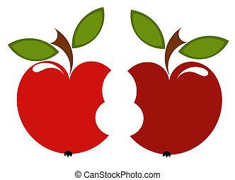 biten, due, mele