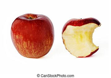 biten, mela intera, rosso