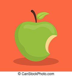 biten, mela verde