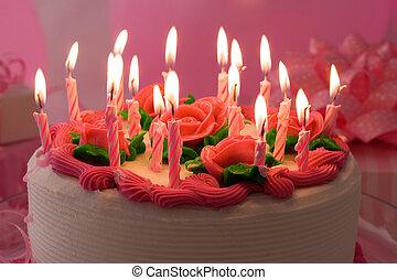 Bithday cake - Birthday cake with candles
