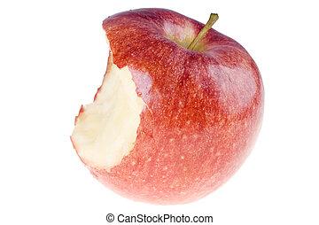 bitit, äpple, röd