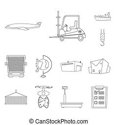bitmap illustration of goods and cargo icon. Collection of goods and warehouse stock bitmap illustration.