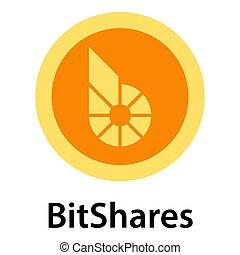 Bitshares icon, flat style
