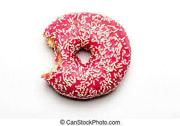 bitten-into donut