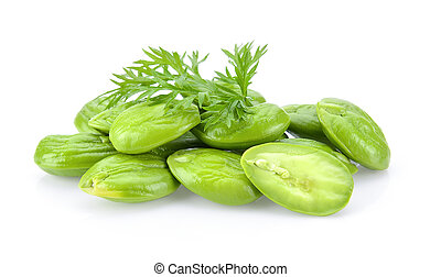 Bitter bean on white background