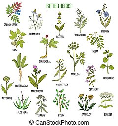 Bitter herbs collection