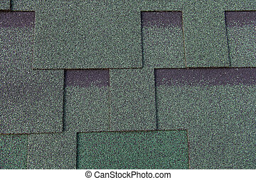 Texture of bitumen shingles close up abstract background