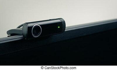 biuro, albo, sypialnia, webcam, ekran