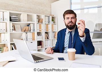 biuro, biznesmen, plan planistyczny, nowoczesny